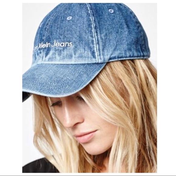 ab0063837bf7e0 Calvin Klein Jeans Accessories | Nwt Calvin Klein Denim Hat | Poshmark